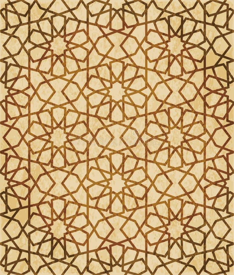 Download Retro Brown Islam Geometrii Wzoru Bezszwowego Tła Wschodni Stylowy Ornament Ilustracja Wektor - Ilustracja złożonej z pergamin, grunge: 106905958