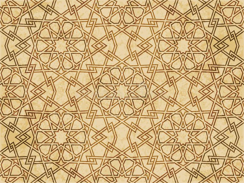 Download Retro Brown Islam Geometrii Wzoru Bezszwowego Tła Wschodni Stylowy Ornament Ilustracja Wektor - Ilustracja złożonej z brąz, orny: 106905983