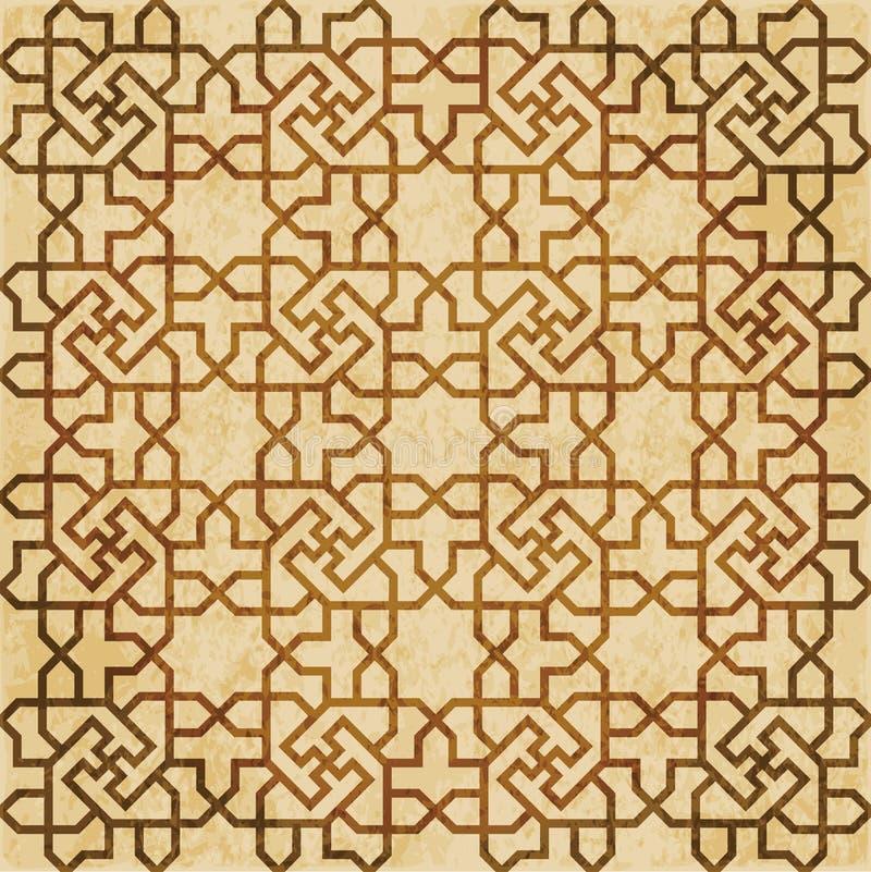 Download Retro Brown Islam Geometrii Wzoru Bezszwowego Tła Wschodni Stylowy Ornament Ilustracja Wektor - Ilustracja złożonej z stary, ośniedziały: 106905999