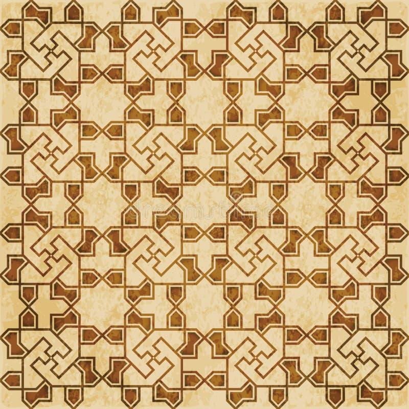 Download Retro Brown Islam Geometrii Wzoru Bezszwowego Tła Wschodni Stylowy Ornament Ilustracja Wektor - Ilustracja złożonej z antyk, octagonally: 106906195