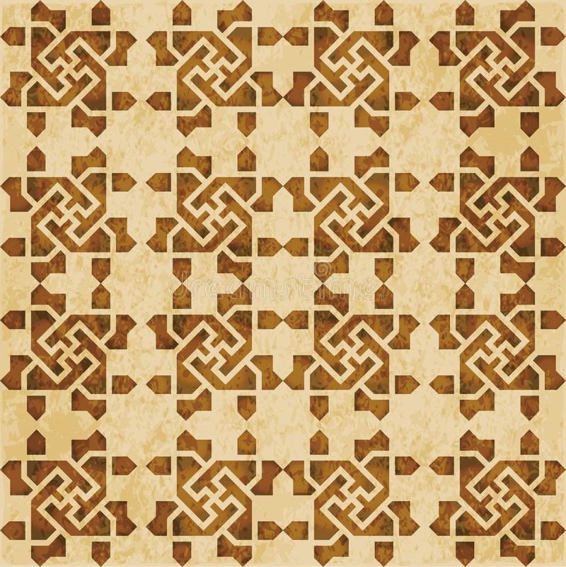 Download Retro Brown Islam Geometrii Wzoru Bezszwowego Tła Wschodni Stylowy Ornament Ilustracja Wektor - Ilustracja złożonej z geomorfologiczny, grunge: 106906453