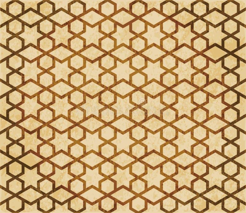 Download Retro Brown Islam Geometrii Wzoru Bezszwowego Tła Wschodni Stylowy Ornament Ilustracja Wektor - Ilustracja złożonej z krzyż, ornament: 106906541