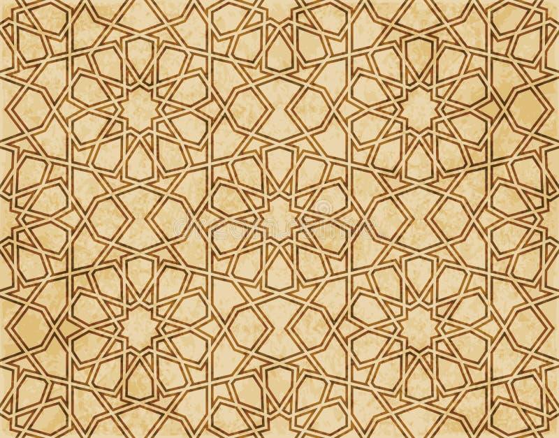 Download Retro Brown Islam Geometrii Wzoru Bezszwowego Tła Wschodni Stylowy Ornament Ilustracja Wektor - Ilustracja złożonej z materiał, aged: 106906699