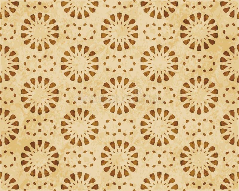 Download Retro Brown Islam Geometrii Wzoru Bezszwowego Tła Wschodni Stylowy Ornament Ilustracja Wektor - Ilustracja złożonej z sześciokąt, korek: 106906704