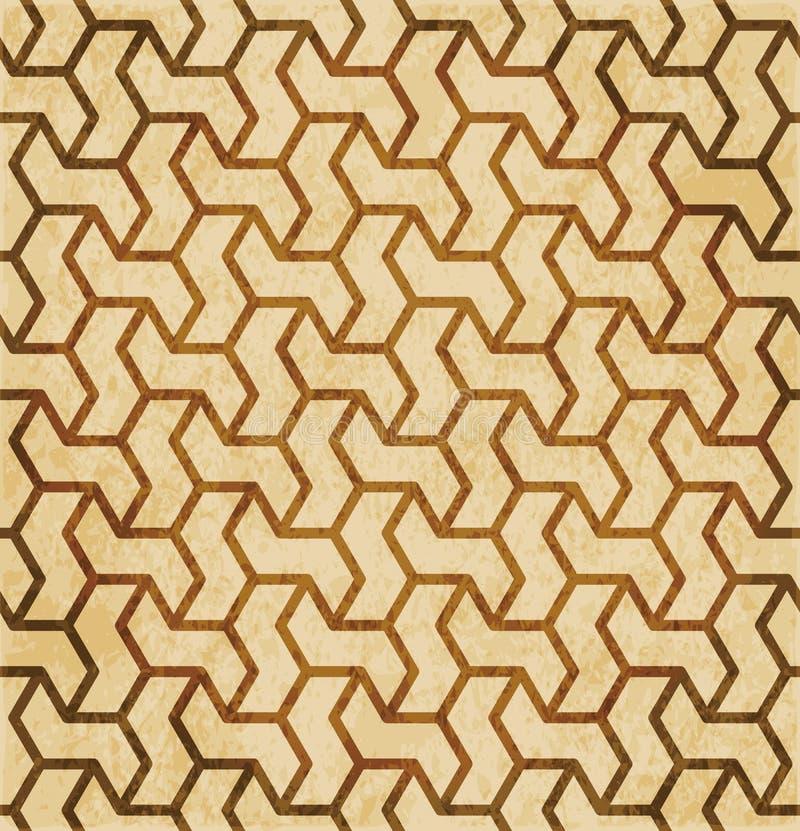 Download Retro Brown Islam Geometrii Wzoru Bezszwowego Tła Wschodni Stylowy Ornament Ilustracja Wektor - Ilustracja złożonej z grunge, abstrakt: 106907325