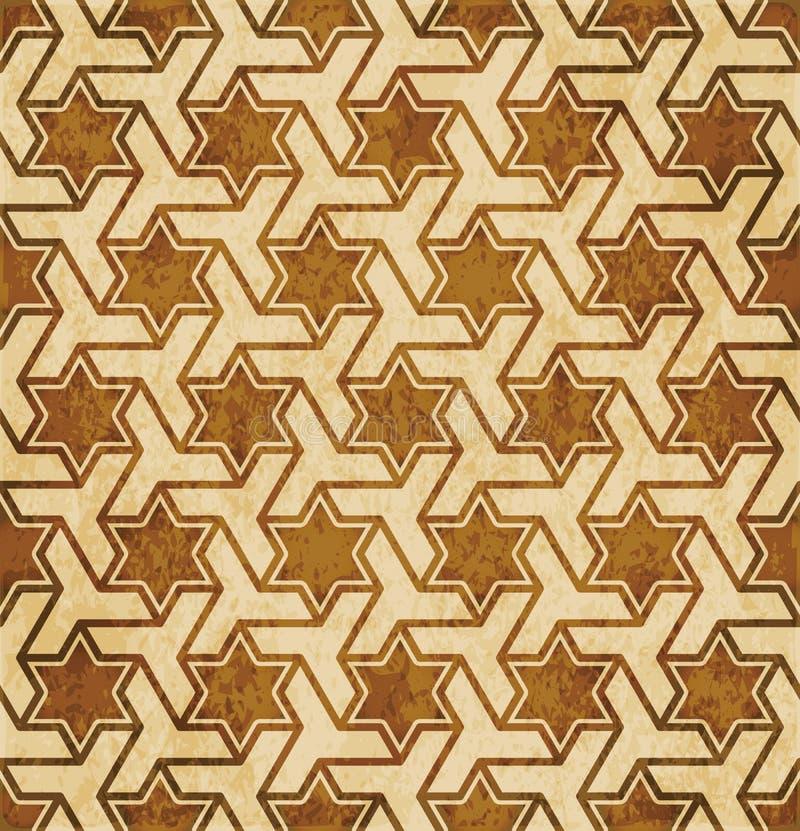 Download Retro Brown Islam Geometrii Wzoru Bezszwowego Tła Wschodni Stylowy Ornament Ilustracja Wektor - Ilustracja złożonej z ośniedziały, abstrakt: 106907344