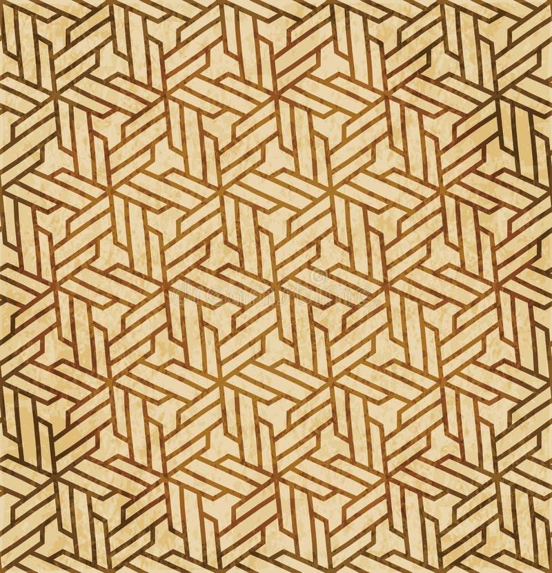 Download Retro Brown Islam Geometrii Wzoru Bezszwowego Tła Wschodni Stylowy Ornament Ilustracja Wektor - Ilustracja złożonej z retro, octagonally: 106907447