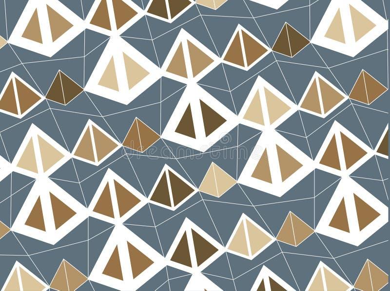 retro bruna pyramider royaltyfri illustrationer