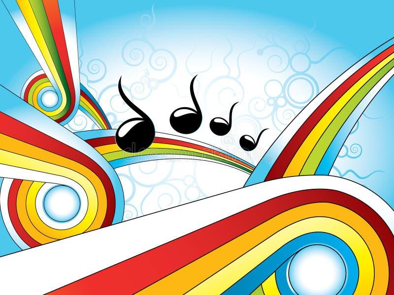Retro- bunte Tapete der Musik lizenzfreie abbildung
