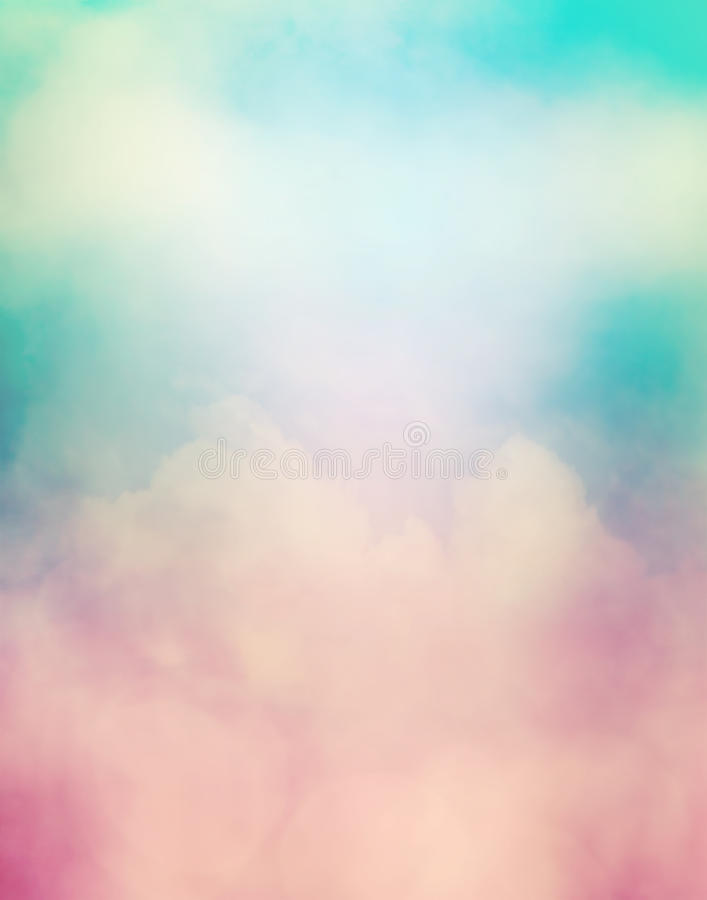 Retro- bunte Wolken lizenzfreies stockbild