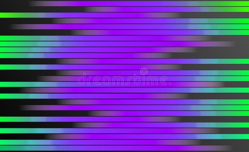 Retro- bunter Streifen-Hintergrund - Digital-Grafikdesign-Tapete stock abbildung