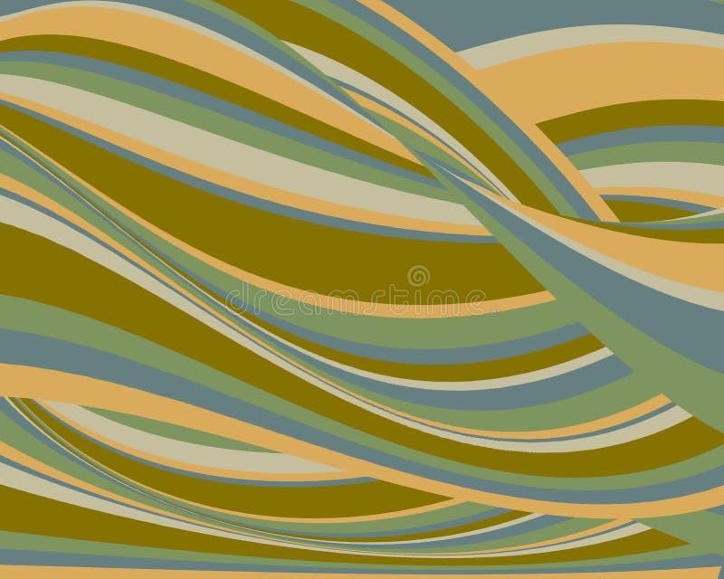 Retro- bunter wellenförmiger Hintergrund stock abbildung