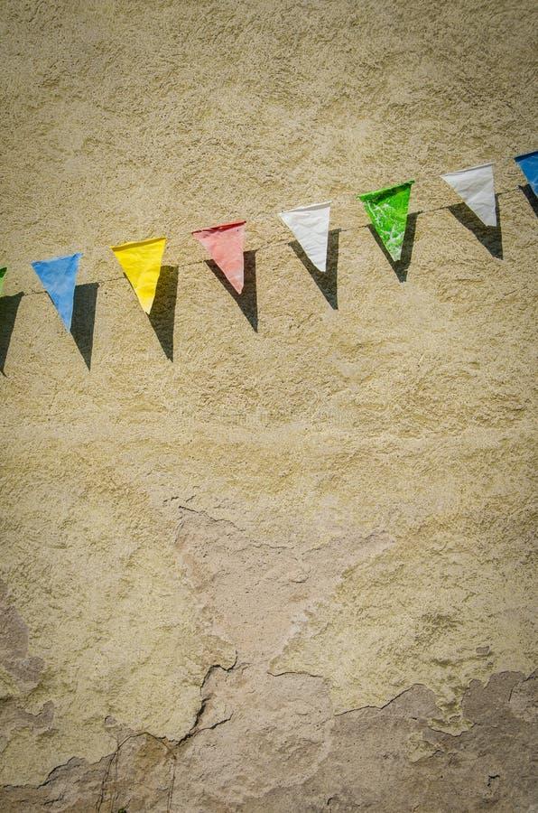 Download Retro Bunting stock image. Image of deserted, flag, birthday - 39546189