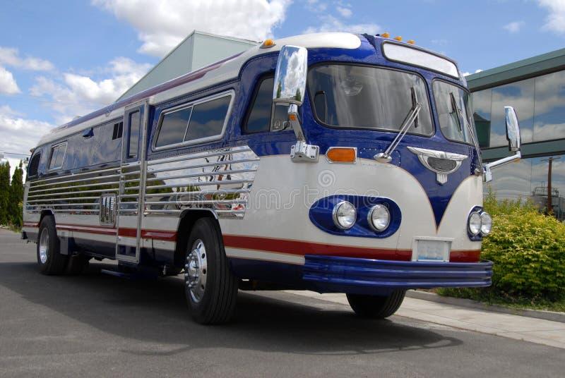 Retro bus royalty-vrije stock afbeeldingen