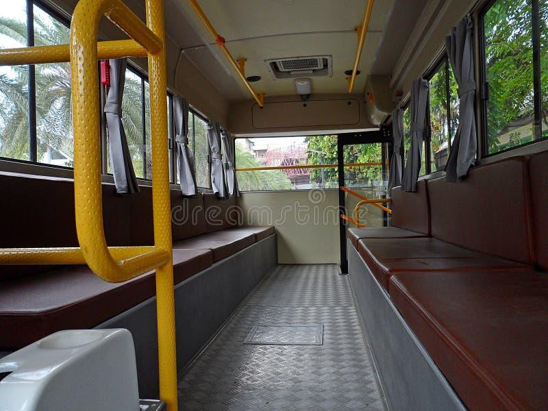Retro- Bus nach innen lizenzfreies stockfoto
