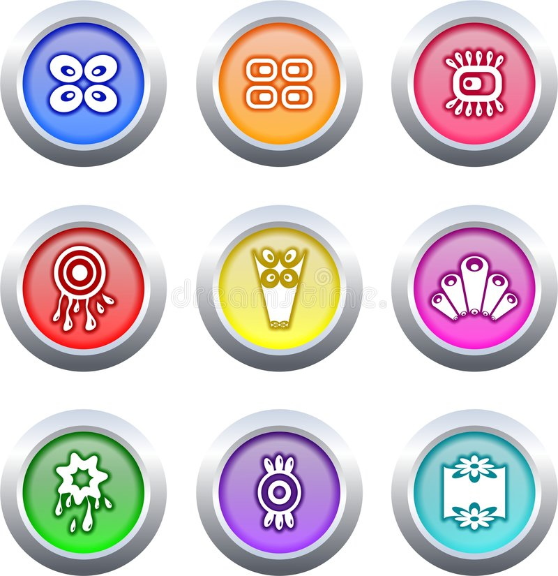 Download Retro buttons stock illustration. Image of communication - 3984396