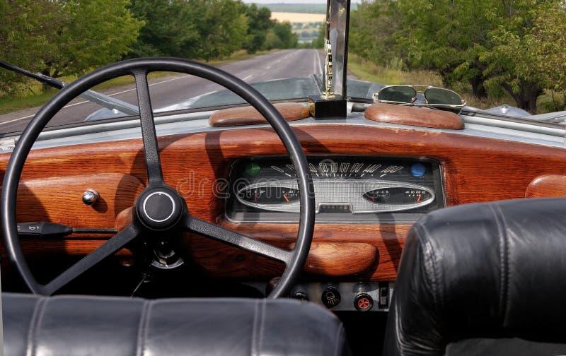 Download Retro cabrio car cockpit stock image. Image of nostalgia - 10285307