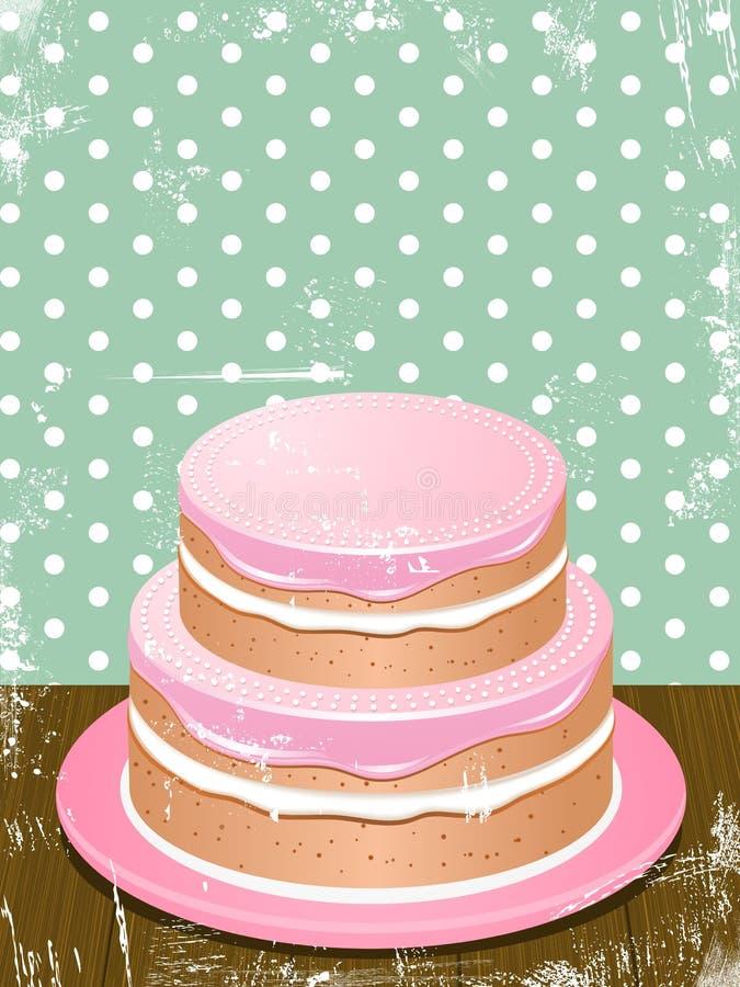 Retro Cake Background Stock Photography