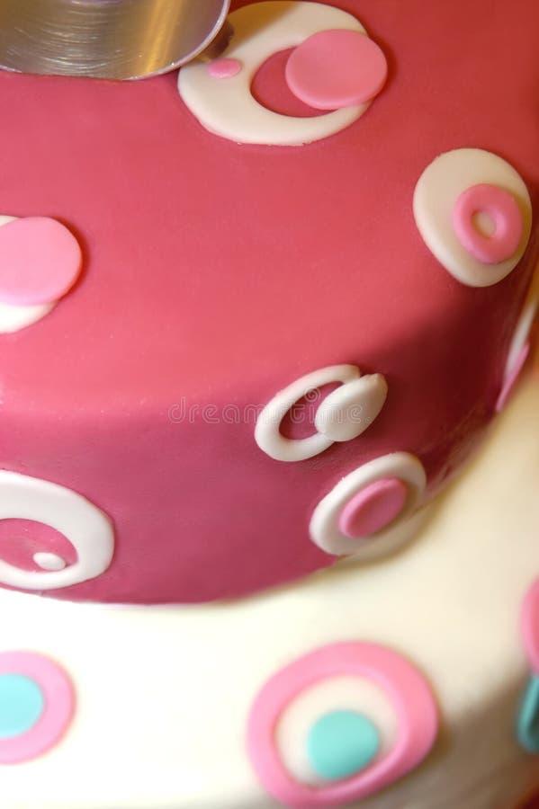 Retro Cake van het Huwelijk royalty-vrije stock foto's