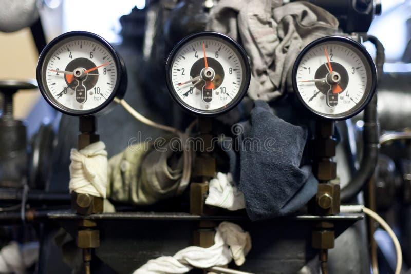 Retro calibro analog di potenza fotografia stock