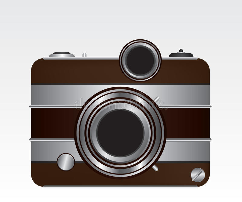 Download Retro camera stock vector. Image of photographic, electronics - 25419065