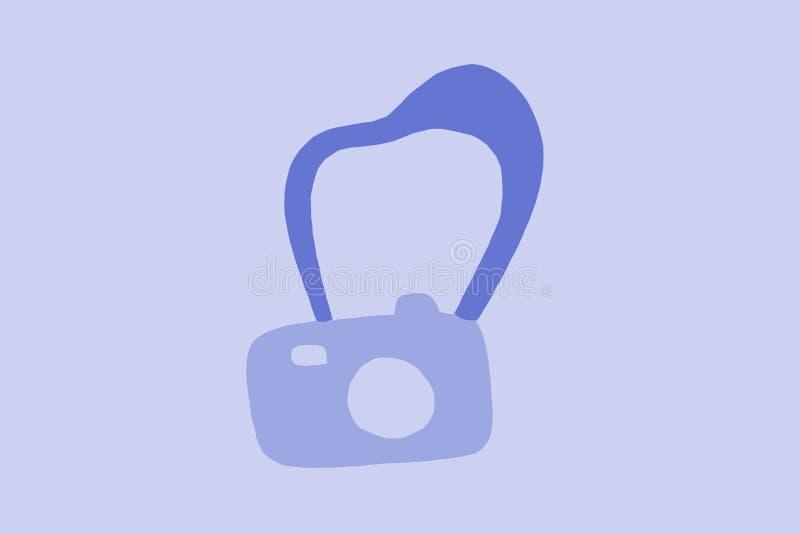 retro camera blauwe wijnoogst stock illustratie