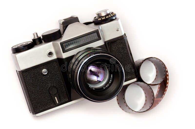 Retro camera en fotografische film stock foto's