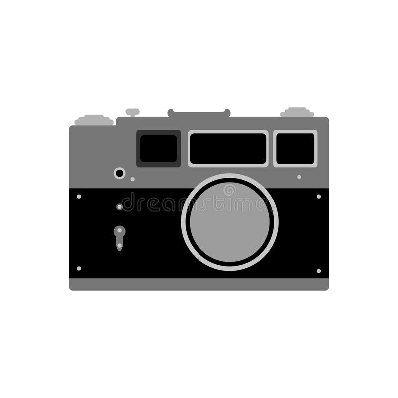 Retro camera Geïsoleerd pictogram, embleem, symbool, teken Vector illustratie royalty-vrije illustratie