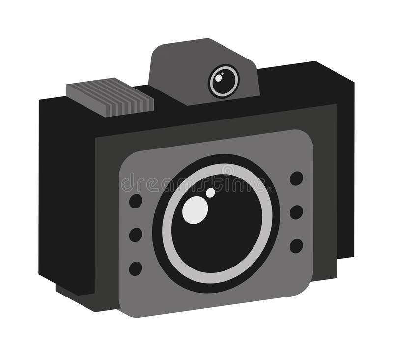 Retro camera isolated icon design. Illustration graphic royalty free stock photos
