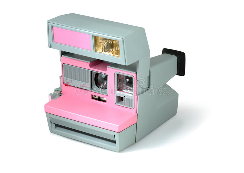 Retro Camera. Old retro camera isolated with clipping path over white background stock photography