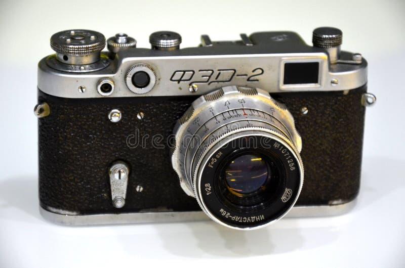 Retro camera russian vintage. Retro photo camera russian vintage stock photography