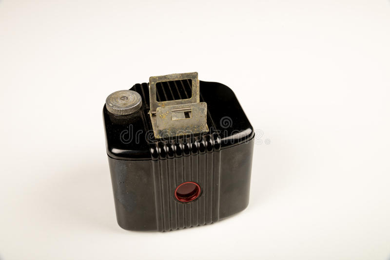Retro camera. Vintage camera on white background stock photography