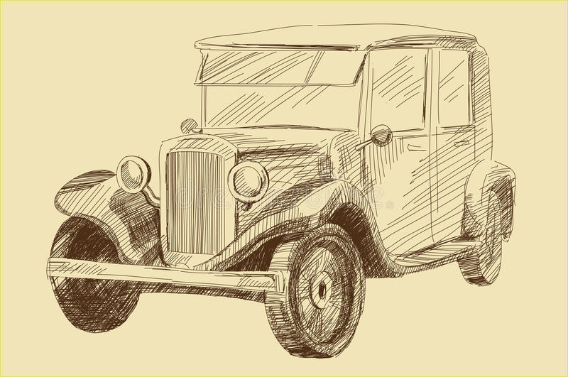 Download Retro Car Royalty Free Stock Images - Image: 23950009
