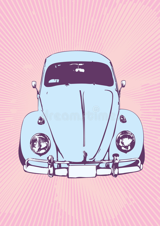Retro car vector illustration