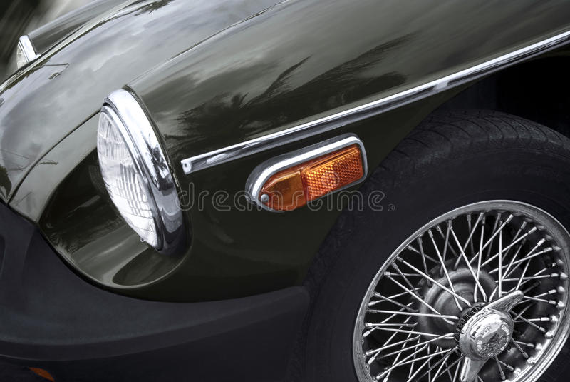 Retro car - American classics stock photo