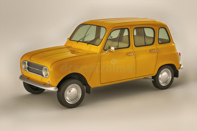 Download Retro car stock illustration. Image of retro, small, french - 34414083