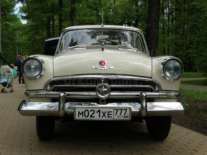 Retro car GAZ - 21 stock images