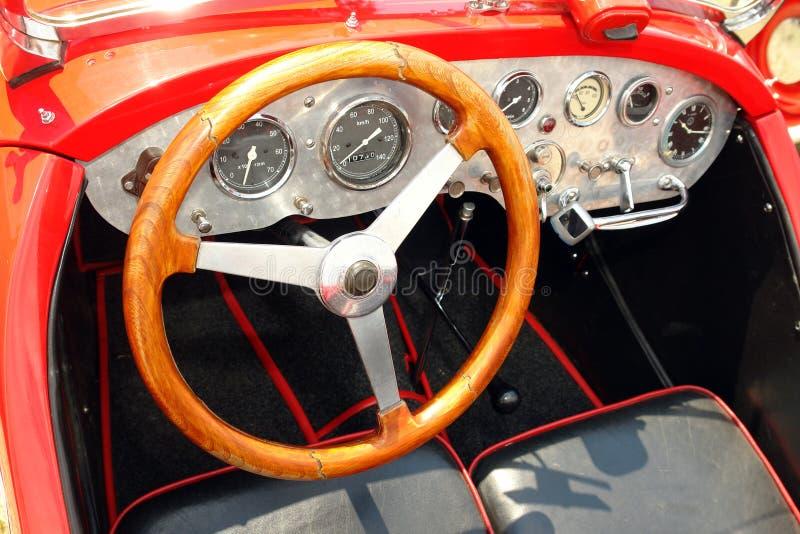 Retro car interior stock photos