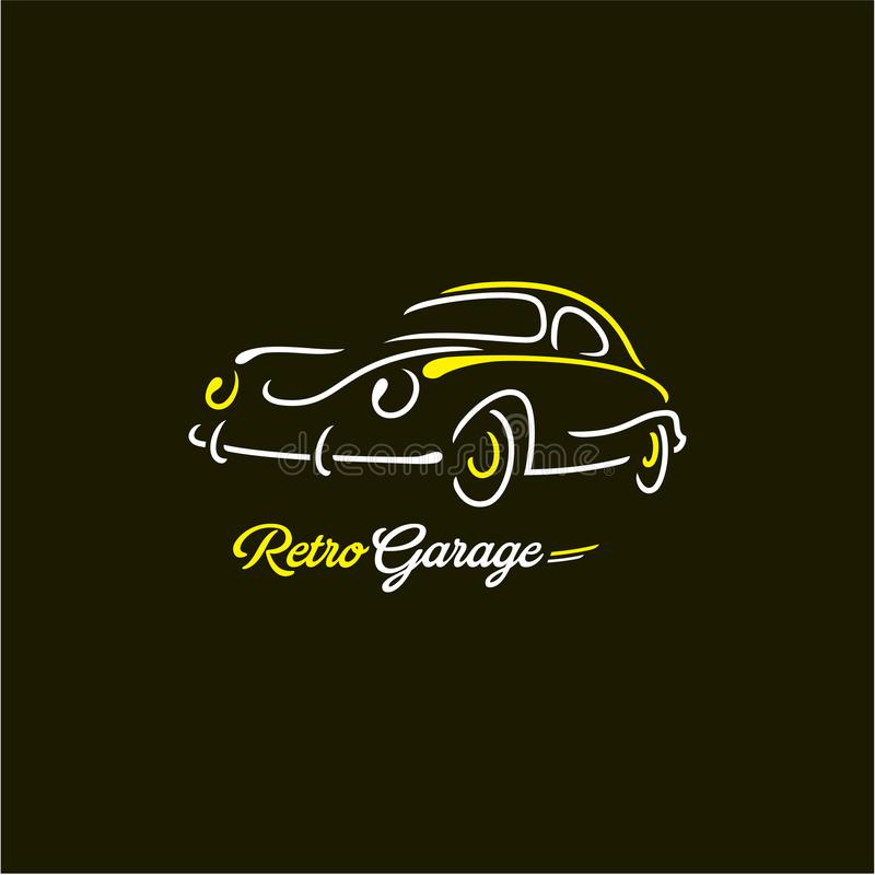 Retro car lines royalty free illustration