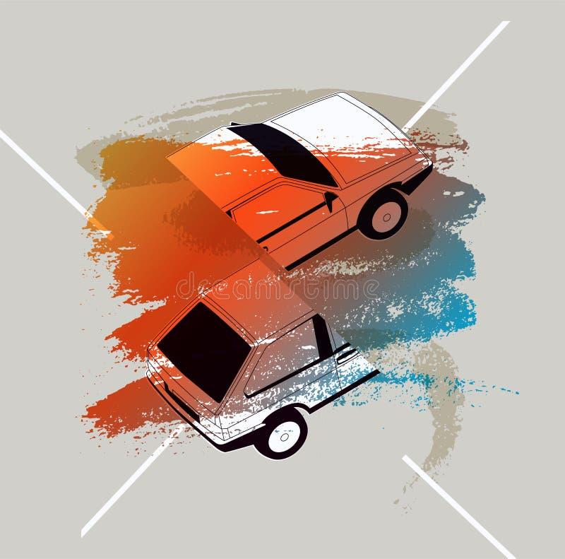 Retro Car typographic vintage style background. Vector illustration. Car typographic vintage style background. Vector illustration vector illustration