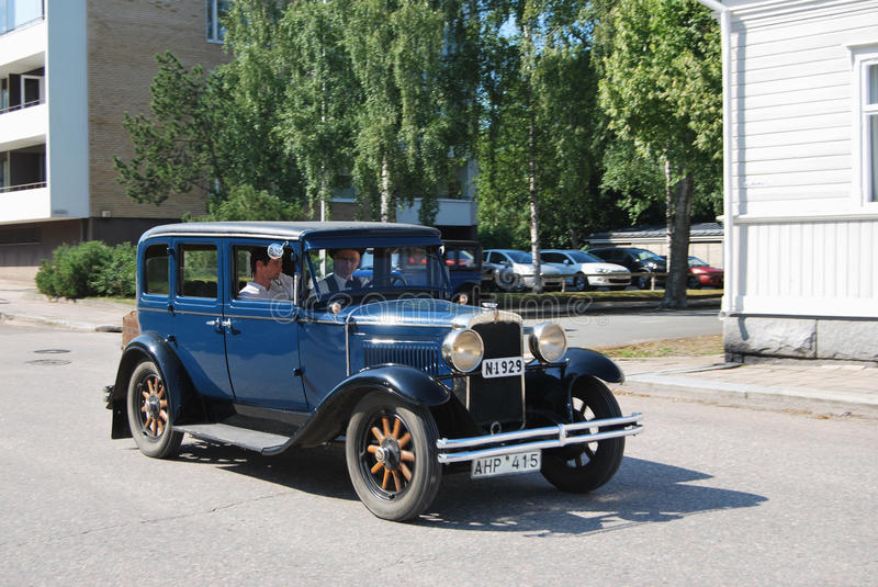 Retro Car. Uusikaupunki, Finland - August, 9, 2014: Well restored Nash club car royalty free stock images