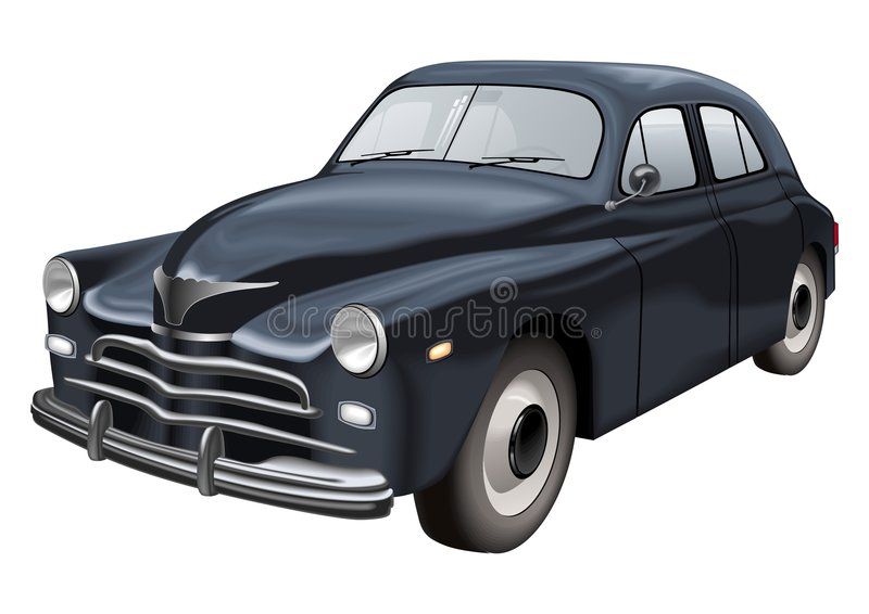 Download Retro car vector stock vector. Image of vector, tour, road - 7730342