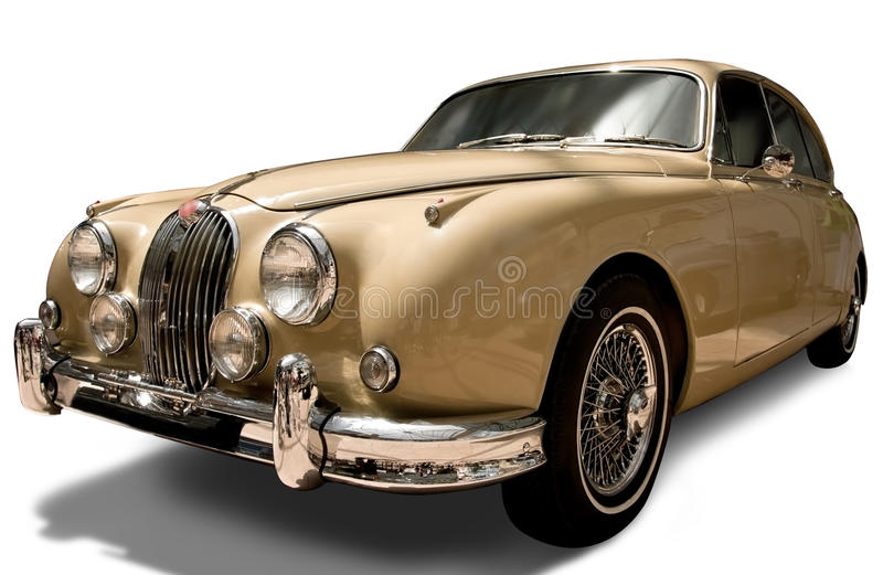 Download Retro Car On White With Clipping Path Stock Photo - Image: 21832166