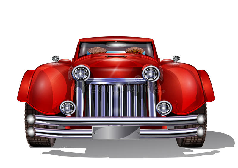 Retro car. For those who understand the art of royalty free illustration