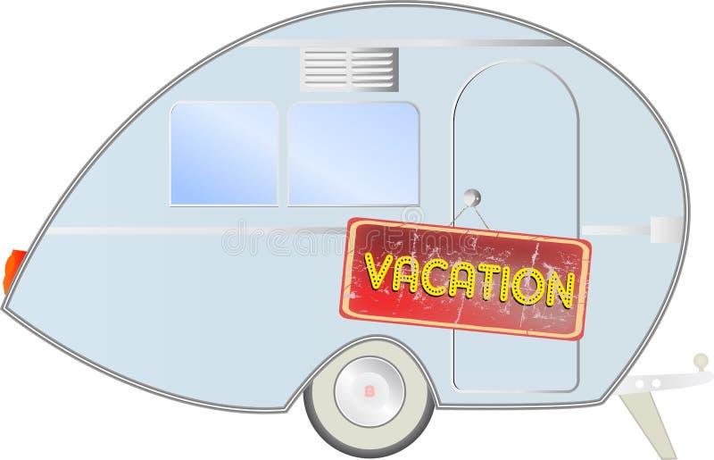 Retro caravan vector illustratie