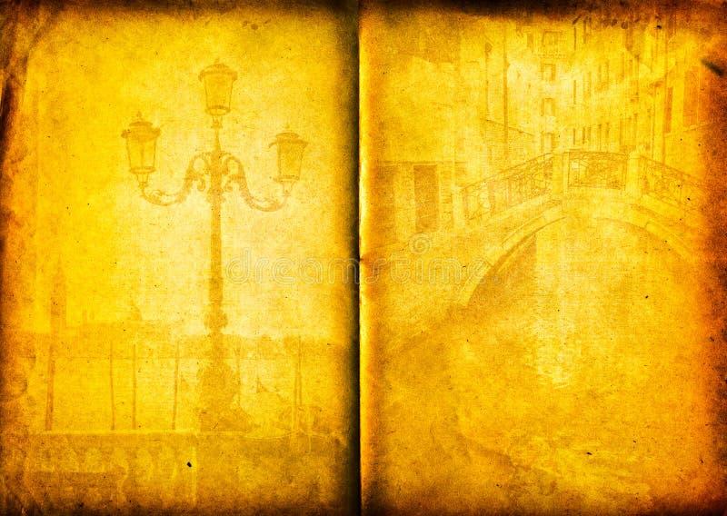 Retro card , old italian Venice stock images