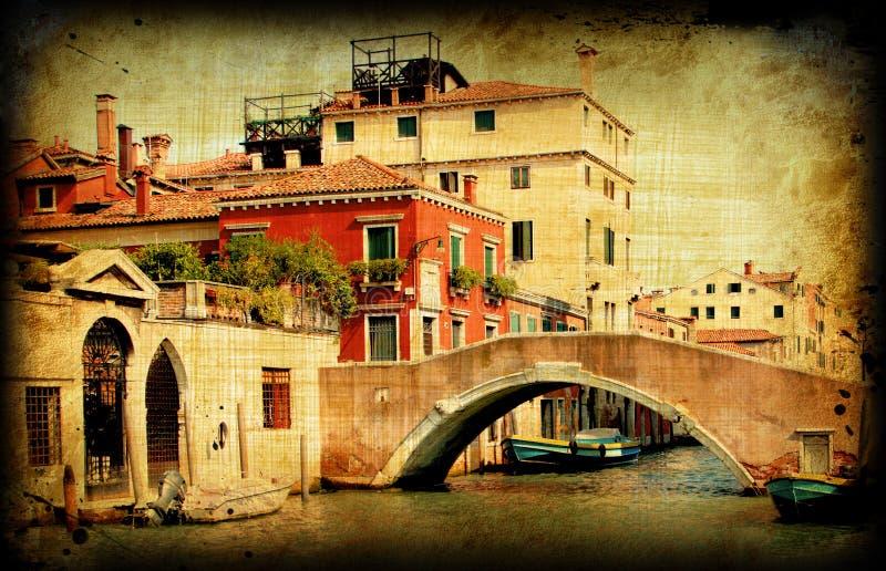 Download Retro Card, Old Italian Venice Stock Illustration - Illustration: 18758438