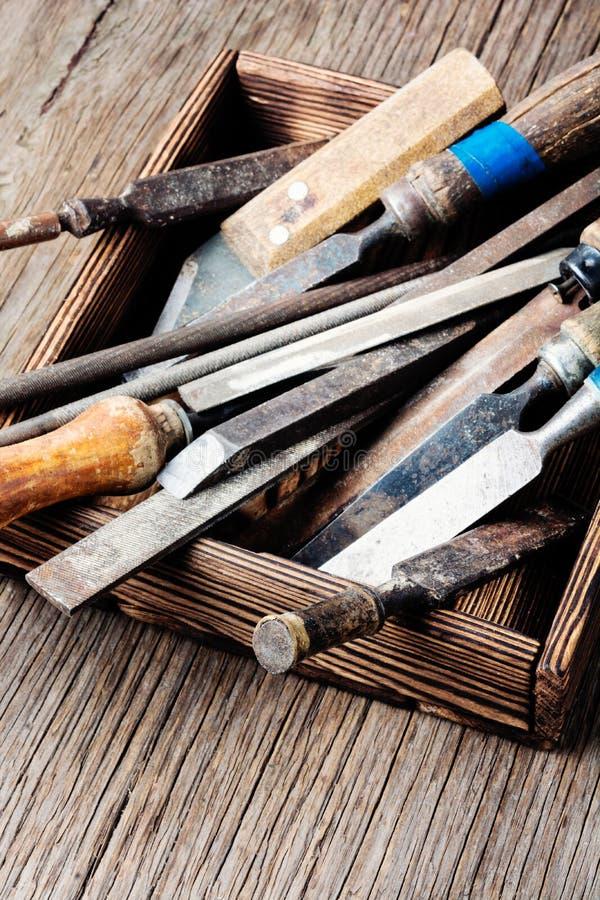 Retro carpenter tool stock photography