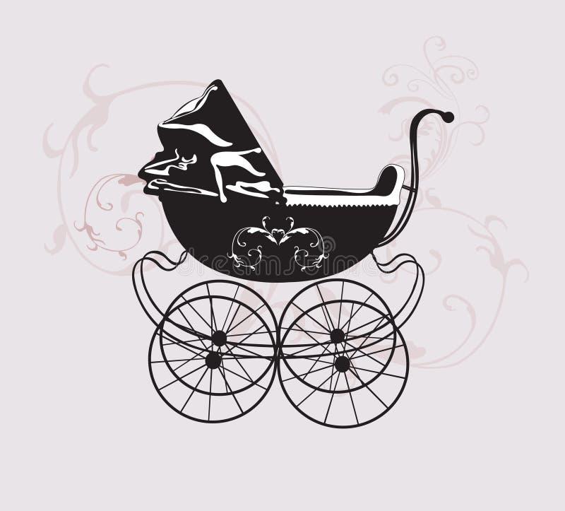 Retro carrozzina royalty illustrazione gratis