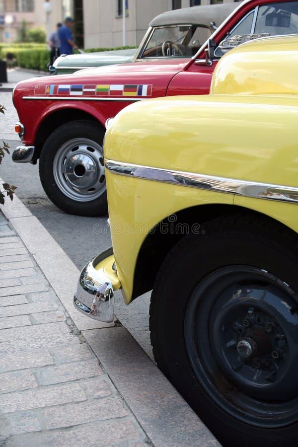 Retro cars royalty free stock photo